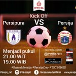 Today is #PersijaDay ! Persipura vs PERSIJA Stadion Mandala Jayapura Kickoff 19.00 WIB live @SCTVSports #TSC2016ID https://t.co/bYGogTqis7