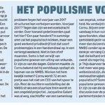 """""""Het populisme voorbij."""" Sterke analyse van @jshln vandaag in @HLN_BE. Samengevat: cut the crap! https://t.co/r9ORAd6GGY"""