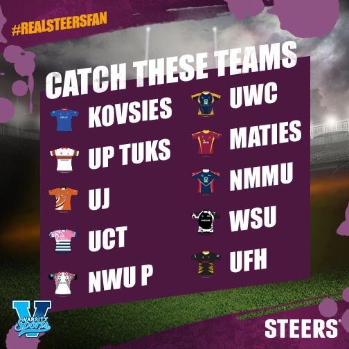 Win R100 vouchers to @SteersSA & a grand prize to watch Varsity Sevens in style! Follow & RT to win