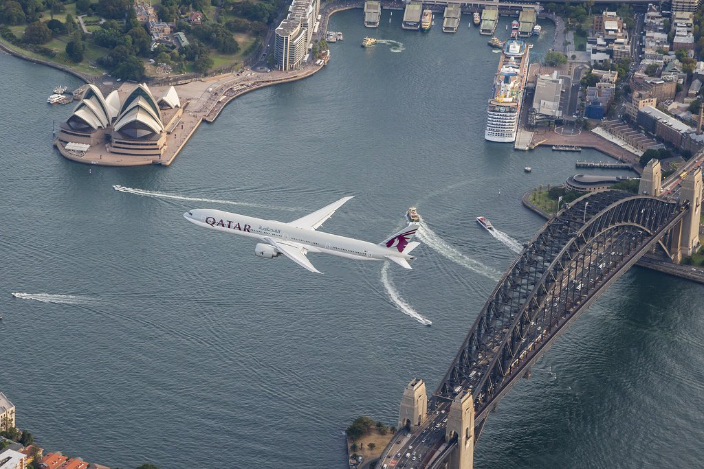 We got the world's best view of Sydney during our first flight there! Watch: