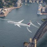We got the world's best view of Sydney during our first flight there! Watch: https://t.co/jSHpIERseQ #SydneyTogether https://t.co/boiH9gRKdo