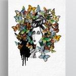 """Револуција &уметност """"Девојката со пеперутките"""" - #шаренареволуција Нека е шарено https://t.co/4EVuNl1JQb"""