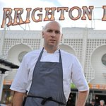 Chef @mattybowling cooks up a storm at Foodies Festival #Brighton on Monday. Buy tickets: https://t.co/RFXdfiF3Ac https://t.co/tEeIFdsCpb