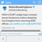 Two media houses in Kenya, reporting about the same case! Jesus, come back to Ke! https://t.co/nSpX7Uc3l2