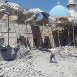 #هام الطيران الحربي يستهدف جامع أويس القرني في #حلب صباح اليوم، علماً أنه تم منع الصلاة اليوم لشدة القصف #حلب_تحترق https://t.co/8QWu0qQoLx