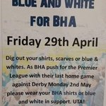 So @BHASVIC are wearing blue & white today as they get behind @OfficialBHAFC. What are you doing to support #BHAFC? https://t.co/gsKw7fzXYu