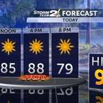Summer-like heat this afternoon. Thumbs up or down? #chswx https://t.co/mMNwT3wUaL