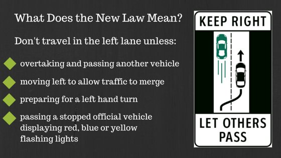 Happy Friday! Just a reminder about the new law that passed this week. Keep right let others pass on the left. #TGIF https://t.co/HE3pHp1kUB