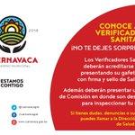 Conoce a tus Verificadores Sanitarios. ¡No te dejes sorprender! #Cuernavaca https://t.co/yEHrzrCAXO