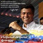 Hoy @leopoldolopez pasa su 3er cumpleaños INJUSTAMENTE encarcelado y por eso le decimos #TuLibertadEsMiLibertad https://t.co/ZIZuHWyofD