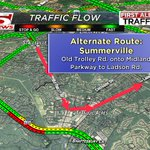 Another Alternate Route to AVOID the crash on Dorchester @ Ladson Rd: Take Old Trolley to Midland to Ladson #chstrfc https://t.co/KxkRRI4EHw