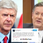 Wenger and @piersmorgan at war as TV celeb accuses Arsenal boss of talking bull***t https://t.co/2E3QlhVsiN https://t.co/fcx4ToFvgT
