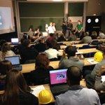 #cocreationtoulon des étudiants de l@univtoulon à la @LaCantinebyTVT Début des soutenances de projets https://t.co/Kbd9IvtbTM