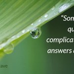 """""""Sometimes the questions are complicated and the answers are simple.""""  ~ Dr. Seuss  #quote https://t.co/FbEd2CRDVq"""