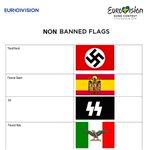 Banderas que Eurovisión NO ha incluido en la lista: https://t.co/9iXVwaF5NS