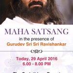 Join Gurudev @SriSri for Satsang today from 6PM onwards in Pune, Maharashtra @ArtofLiving https://t.co/KBQvOJU4Jx