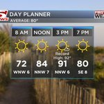 Get ready for a hot Friday! Near record high temps possible this afternoon. Day Planner: #chswx https://t.co/3OMbjV4Rl2