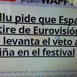 Eurovision debe rectificar. Otros deben izar la bandera de España donde corresponde @PPVasco https://t.co/GZpME2jYV3