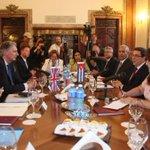 #CancillerCuba sostuvo en la tarde de ayer conversaciones oficiales con Canciller del #ReinoUnido. #Cuba https://t.co/vGKBTj4aRp