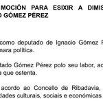 Aprobada moción para esixir a dimisión e reprobación do deputado Ignacio Gómez Pérez   🔗https://t.co/ZNwi0PrNVS https://t.co/RlZtdUfTSX