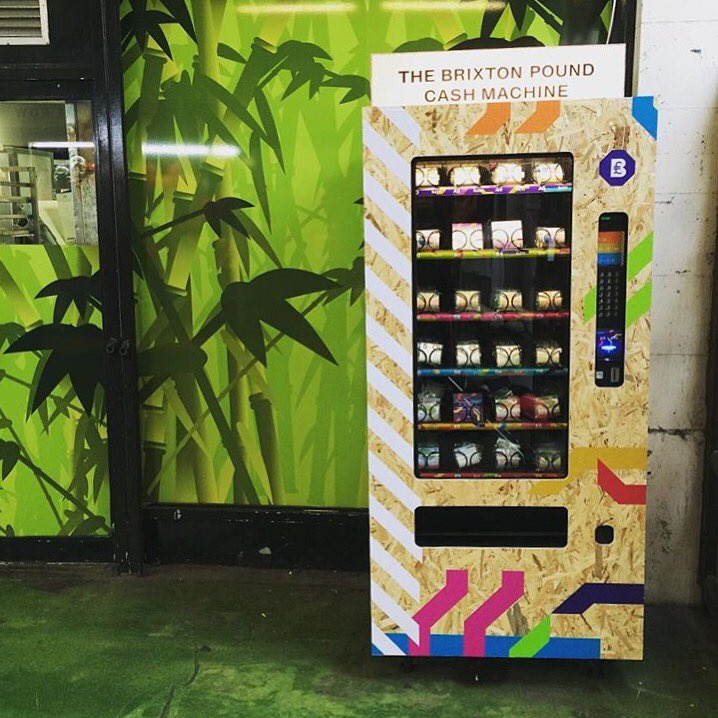 Have you seen the @brixtonpound Cash machine in The Market Row??