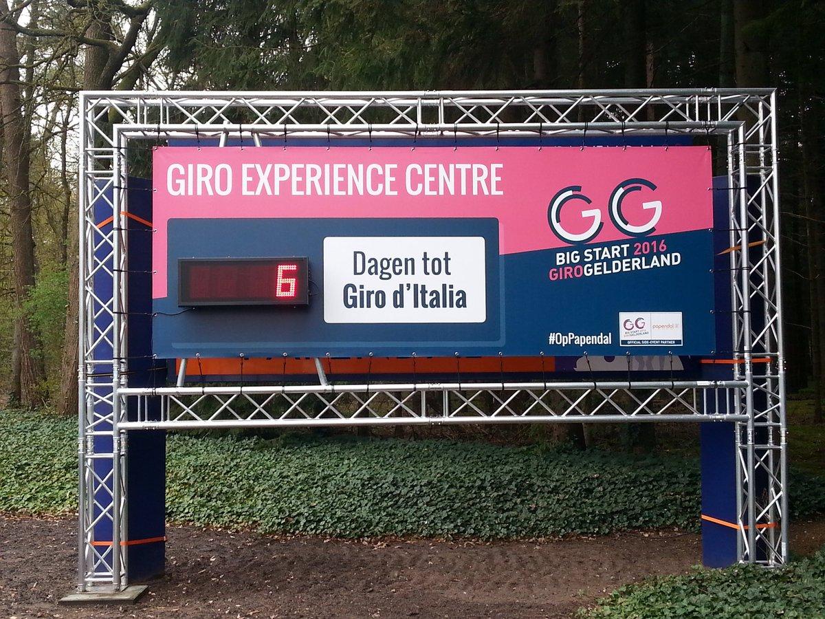 Giro Experience Centre #OpPapendal maakt zich op voor ontvangst duizenden deelnemers @Girogelderland toertocht 1 mei https://t.co/xbghbdnCWR