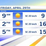 Sunny and a high of 17 today. A great way to kick off the weekend! @CTVReginaLive #YQR #SK https://t.co/zMoCLfBLi4
