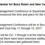 Like planning way in advance? In 17, @GAWDAorg will meet in Boca Raton, FL and New York City. Mark your calendar. https://t.co/pFcsGIOqmR