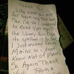 Little Free Libraries #ROC!!! One New Orleans steward came out to her Little Library and found this surprising note. https://t.co/N44he5ikg2