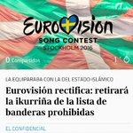 Eurovision retirará la #ikurriña de la lista de banderas prohibidas y pide disculpas https://t.co/uOLyNgJGba