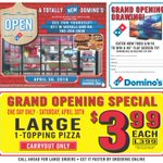 """Join our WLBC Live Dominos Broadcast 2mrw 2-4pm w/ Simon!  $3.99 Large Pizza Plus win a 40"""" Flat Screen TV. https://t.co/dZxLkno6Tj"""