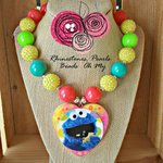 Sesame Street #Cookie Monster - #Necklace Little Girl by BeadsOhMy https://t.co/sC9qQ8w2Mh      https://t.co/lmtmK4nWK0  #handmade