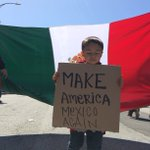 This little boy outside of the #CAGOPConvention has a message for Trump. https://t.co/TAfDeRqWUc