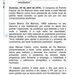 O congreso dos Blancos elixiu a José Manuel Castro Blanco como novo presidente da xunta local dos populares. https://t.co/KLBAyB66f7