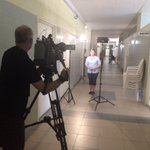 Wrapping up today by shooting @KHounsellCTV at JFK Memorial Hospital. #Liberia https://t.co/HZAMmgdY69