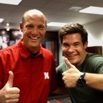 Awesome time getting weird with @ADAMDEVINE this morning! #GBR 🔴🌽🏈 https://t.co/8jsKsgKTKT