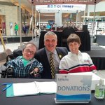 The noonhour donation team! @ConestogaMall @KidsAbility #radiothon https://t.co/37O4re6Kv9