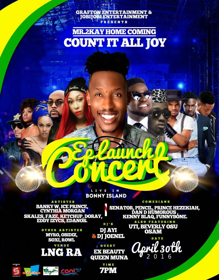 Certified fun! Mr 2kay Home Coming #Countitalljoy Ep Concert live in Bonny island. View image details  #SupportTweet https://t.co/7ld1aDlNl7