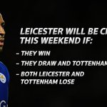 Can it be this weekend after waiting for 122years? Can Leicester win it this weekend. Check out the odds #SSFootball https://t.co/46Jus93kq4
