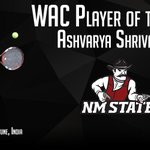 Congrats to Ashvarya Shrivastav of @NMStateWTEN on being named the @WACSports Player of the Year! #nailedit #AggieUp https://t.co/SBK4belIAf