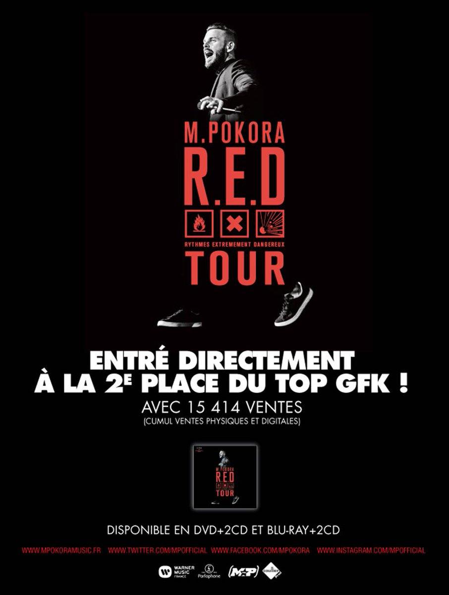 """Bravo @MPokora ! Entré directement top 2 avec le """" Red Tour"""" :-) https://t.co/5REoPIyYod"""