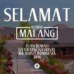 Selamat atas terpilihnya Kota #MALANG sebagai tuan rumah Gathering Nasional Milanisti Indonesia 2016 #Congrats https://t.co/vqP1fYlTzH