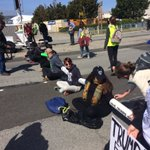 BREAKING: protestors blockade roads in front of CA republican convention #WeWillNotBeTrumped https://t.co/Y3A594WGe0