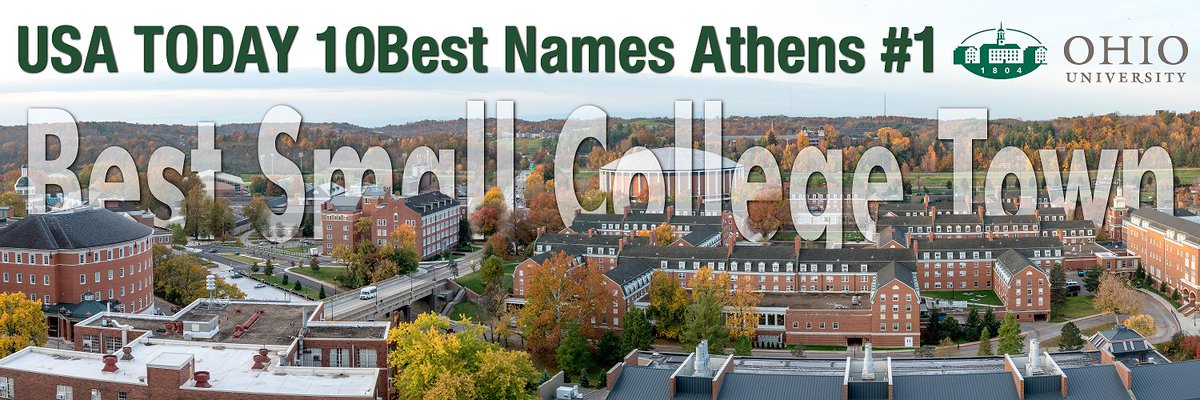 #AthensOhio named Best College Small Town by @USATODAY @10Best! https://t.co/fuvuuVYEln Pic courtesy @OhioFootball https://t.co/xNBhPJkm0Q