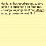 #Manithan My rating: 3/5 My full review in my Whatsapp screenshot; Verdict in my color note screenshot. https://t.co/7lJIAELWZI