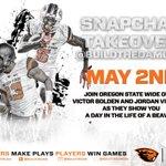 @villythebeaver and @vbolden6era will be taking over snapchat on Monday!! #GoBeavs https://t.co/gAnfYaoXZu