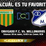 Opina con la etiqueta #LaLigaxRCN ¿Cuál es tu favorito, @EnvigadoFC o @MillosFCoficial? https://t.co/sZzN8dLa6C https://t.co/cOFxj5LBCW
