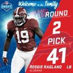 🚨 TRADE ALERT! 🚨  The @buffalobills trade up to the #41 pick (via Chicago) to select LB Reggie Ragland! #NFLDraft https://t.co/J41jpPn9Gb
