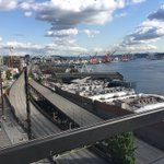 West Seattle water taxis coming to & from Colman Dock - follow @NatashaKIRO7 for their progress #99closure https://t.co/sJJNiHAuIv