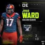 With the 13th pick in the 2nd round, the Raiders select DE Jihad Ward. https://t.co/jeRu0HOfGk